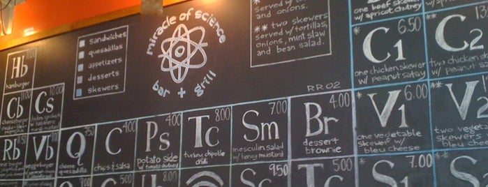 Miracle of Science Bar & Grill is one of Pubs, Clubs & Restaurants in Greater Boston.