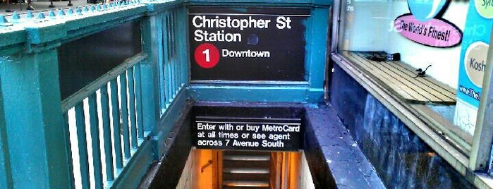 MTA Subway - Christopher St/Sheridan Square (1) is one of Locais curtidos por Friedrich.