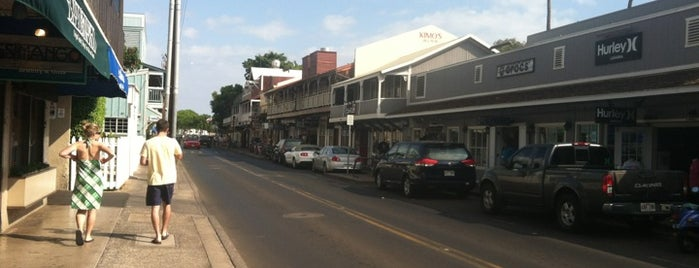 Old Lahaina Town is one of Maui.