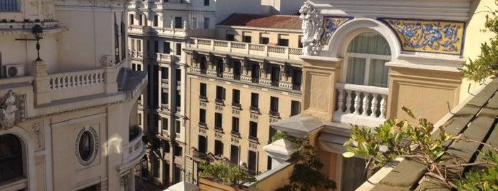 terraza Hotel de la Letras is one of Tempat yang Disukai Álvaro.