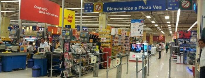 plazaVea is one of Lugares favoritos de Cesar.