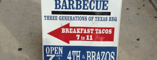 Blue Ribbon Barbecue is one of SXSW: The Travellers' Guide.