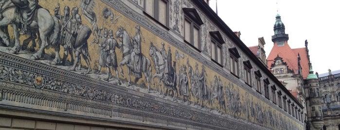 Fürstenzug is one of Dresden.