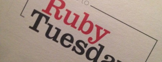 Ruby Tuesday is one of Claudio 님이 저장한 장소.