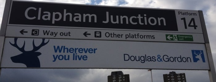 Clapham Junction Railway Station (CLJ) is one of You calling me a train spotter?.