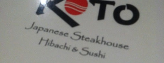Koto Japanese Steak House is one of Laurie's Saved Places.