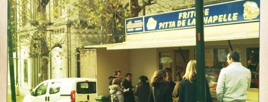 Friture Pitta de la Chapelle is one of The Best Chips in Brussels.
