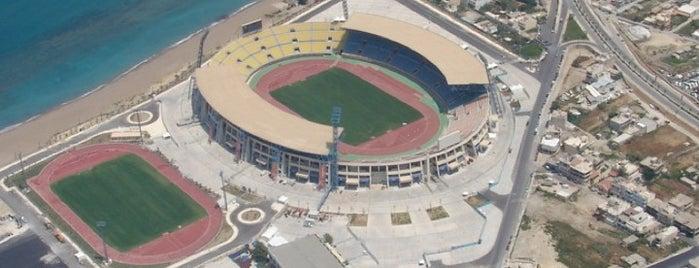 Pancretan Olympic Stadium is one of Holidaying in Crete.