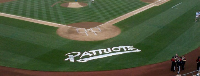 TD Bank Ballpark home to Somerset Patriots Baseball is one of Tempat yang Disukai Cindy.