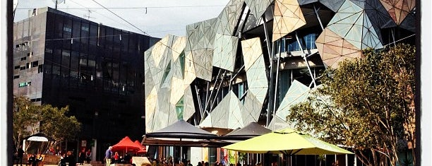 Federation Square is one of Jas' favorite urban sites.