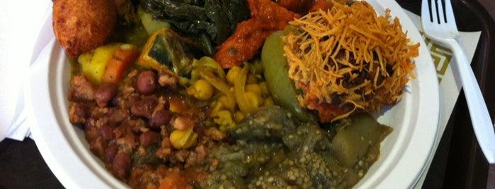 Uptown Vegetarian Food & Juice Bar is one of Dining in Harlem (cafes, bistros, sandwich shops).
