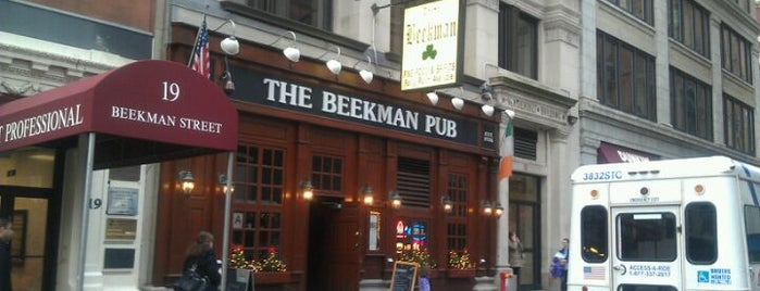 The Beekman Pub is one of event locations in lower manhattan.
