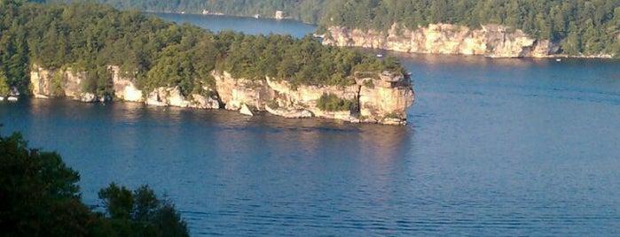 Summersville Lake is one of Tempat yang Disukai h.
