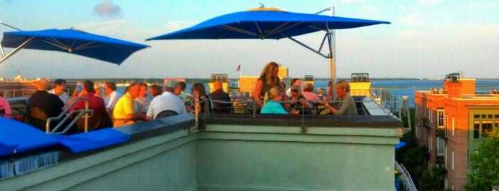 The Rooftop Bar at Vendue is one of Charleston.