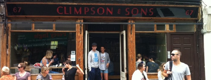 Climpson & Sons is one of 111 Coffee Shops in London.
