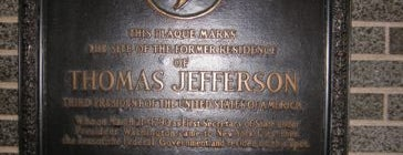 Former Home of Thomas Jefferson is one of IWalked NYC's Lower Manhattan (Self-guided Tour).