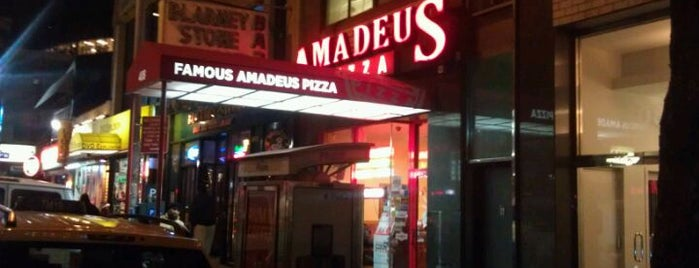 Famous Amadeus Pizza - Madison Square Garden is one of Posti salvati di Lizzie.