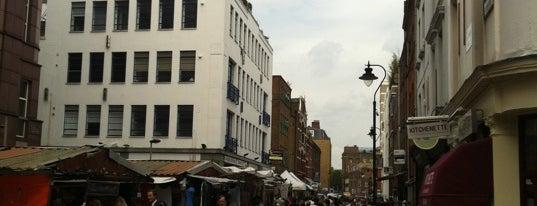 Leather Lane Market is one of Clerkenwell, London.