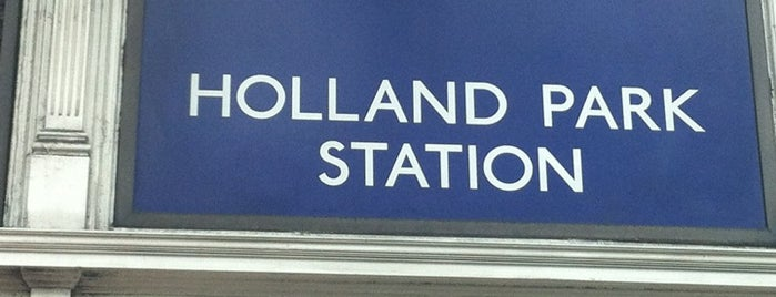 Holland Park London Underground Station is one of Underground Stations in London.