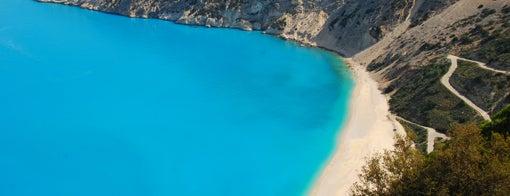 Myrtos Beach is one of Hott.
