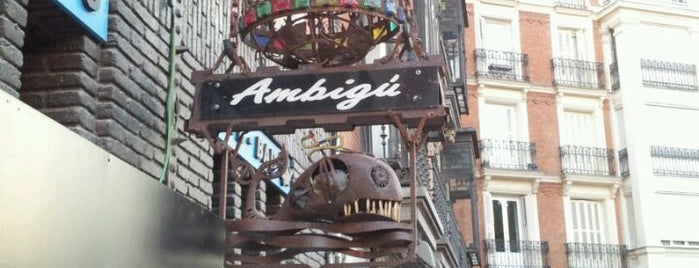 Ambigú Bar is one of Madrid tapas.