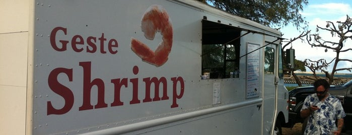 Geste's Shrimp Truck is one of Maui.
