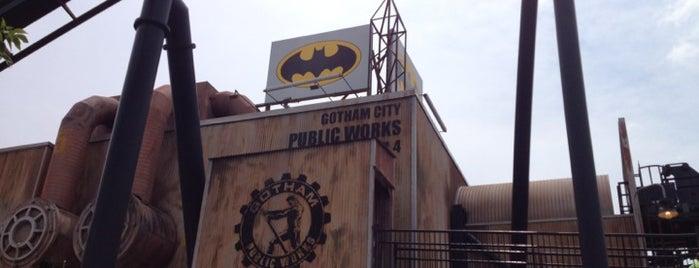 Batman is one of ROLLER COASTERS.