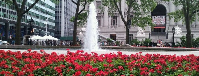 Bowling Green Fountain is one of NYC TriBeCa.