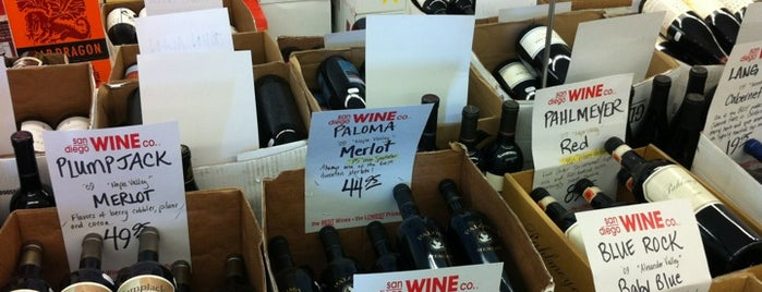 San Diego Wine Company is one of Favorite Haunts Insane Diego.