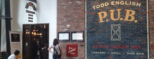 Todd English P.U.B. is one of Food & Drink to check out.