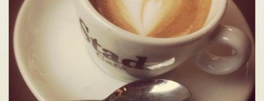 "Stad Cafe' is one of ""Qu'ils mangent de la brioche!""."