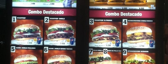 Burger King is one of No ir o volver jamás.