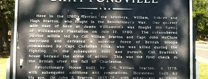Historic Brattonsville is one of Charlotte Favorites.