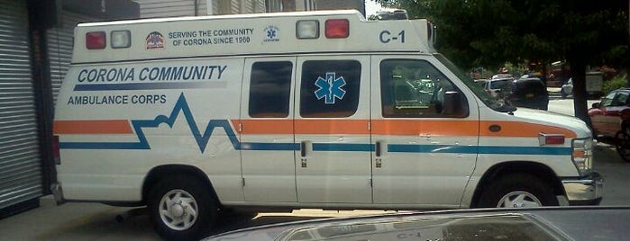 Corona Community Volunteer Ambulance Corps, Inc. is one of NYC Volunteer Ambulance Quarters.