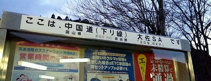 大佐SA (下り) is one of สถานที่ที่ Shigeo ถูกใจ.