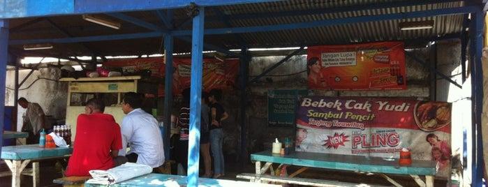 "Bebek Goreng Cak Yudi ""Sayang Anak"" is one of Surabaya."