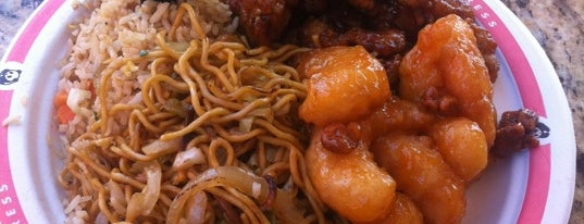 Panda Express is one of food places.