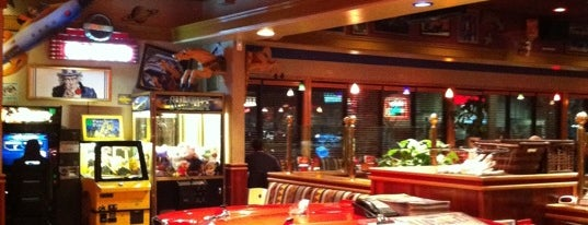 Red Robin Gourmet Burgers and Brews is one of Locais salvos de Luis.