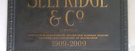 Selfridges & Co is one of London as a local.