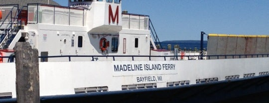 Madeline Island Ferry is one of MN north woods: stuff to see and places to ea.