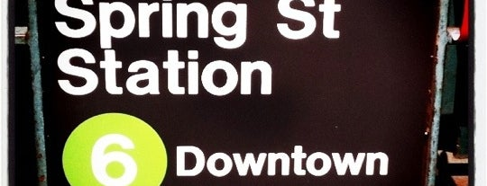 MTA Subway - Spring St (6) is one of Trainspotter Badge.