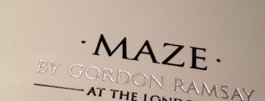 Maze Restaurant is one of NYC Restaurant Week Downtown.