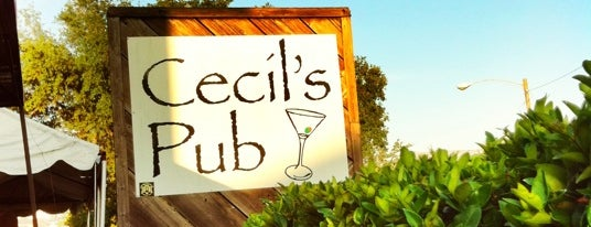 Cecil's Pub is one of As long as you're in Houston....