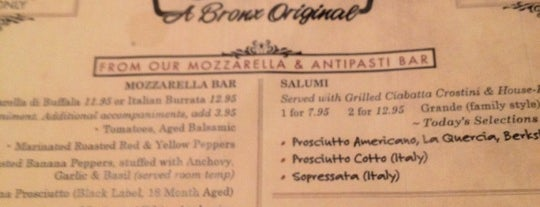 Chazz: A Bronx Original is one of Gluten Free menus.
