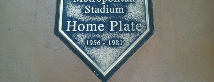 Metropolitan Stadium Home Plate is one of Entertainment.