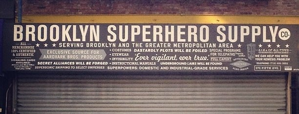 Brooklyn Superhero Supply Co. is one of NYC shopping.