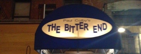 The Bitter End is one of NYC Arts.