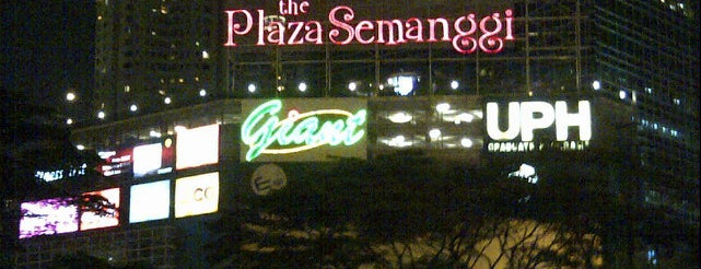 The Plaza Semanggi is one of My Places :).