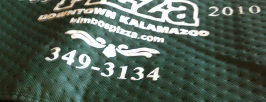 Bimbo's Pizza is one of Best of Kzoo.