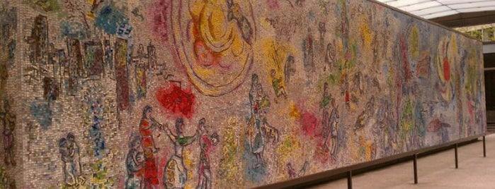 "Chagall Mosaic, ""The Four Seasons"" is one of Two days in Chicago, IL."